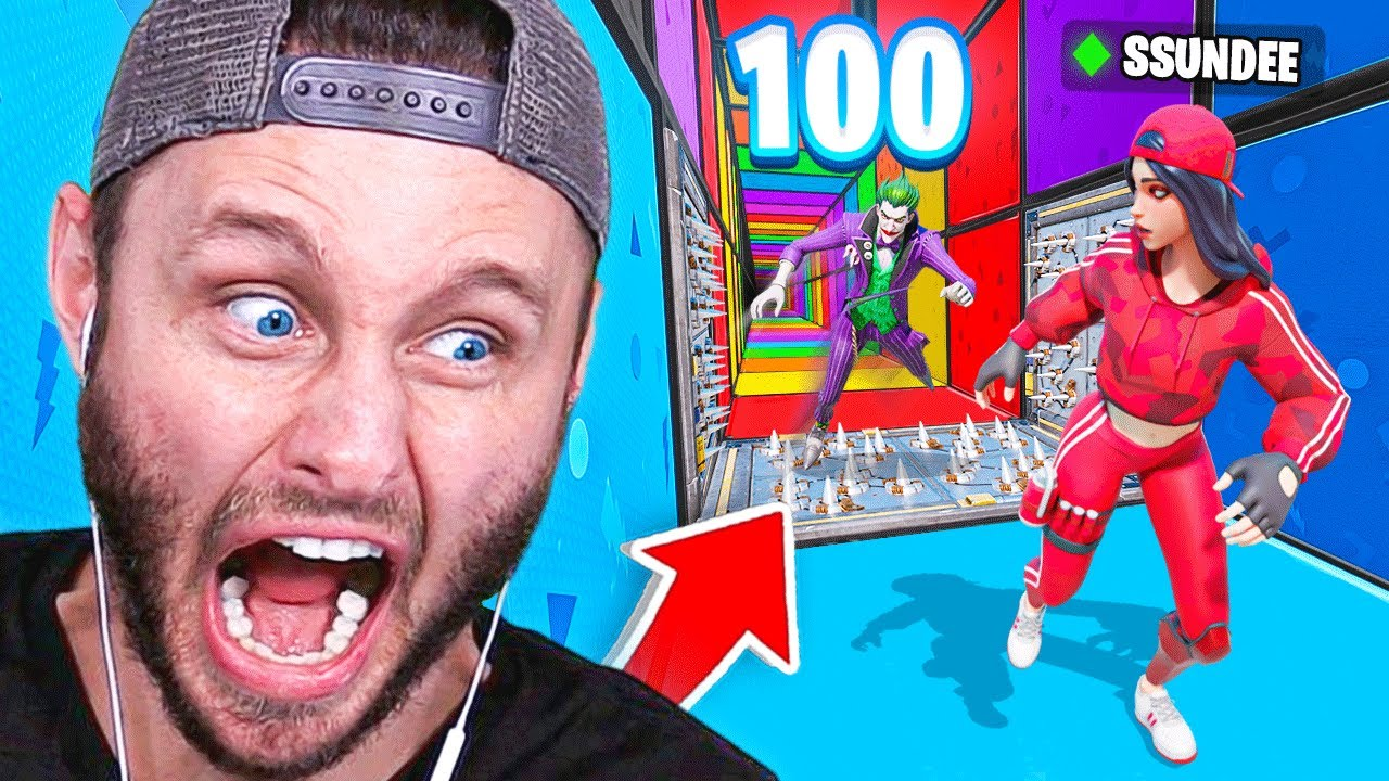 *NEW* 100 STAGE DEATH RUN Game Mode in Fortnite Battle Royale
