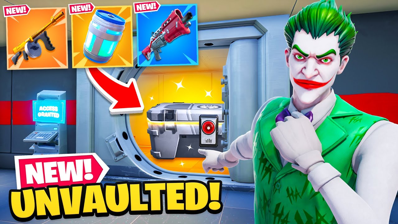 *NEW* UNVAULTED EVERYTHING in Fortnite! (EPIC)