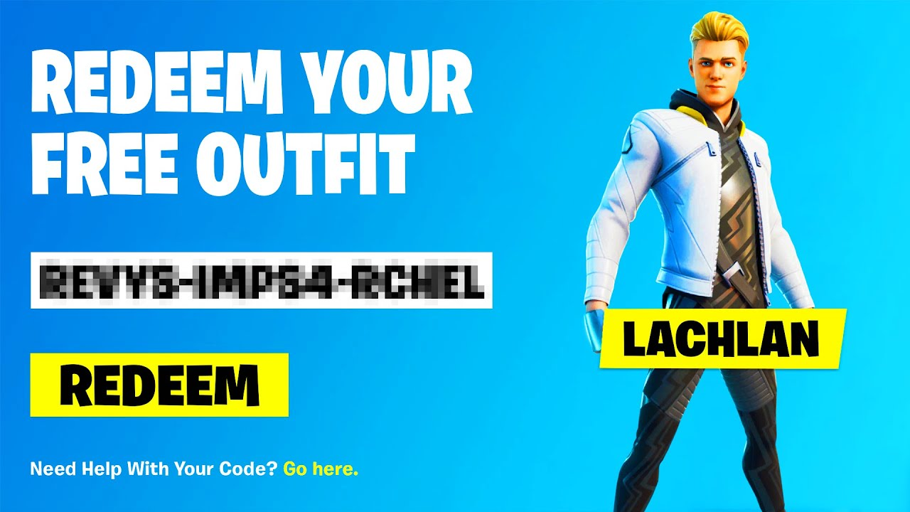 SECRET CODE to GET LACHLAN SKIN for FREE in Fortnite! ⚡ (FREE LACHLAN BUNDLE CODES)