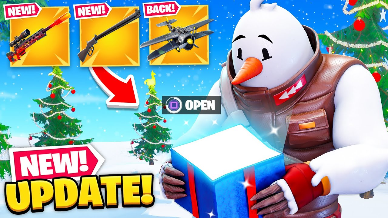 *NEW* CHRISTMAS UPDATE in Fortnite! (New Guns, Map Changes + MORE)