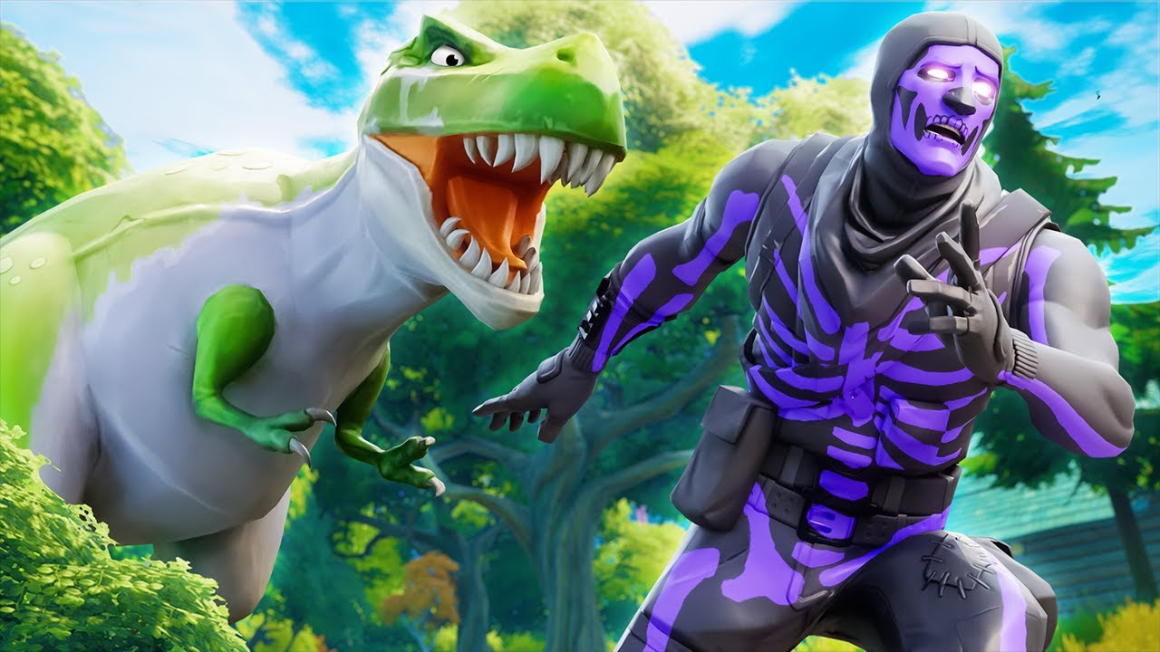 DINOSAURS in FORTNITE!!
