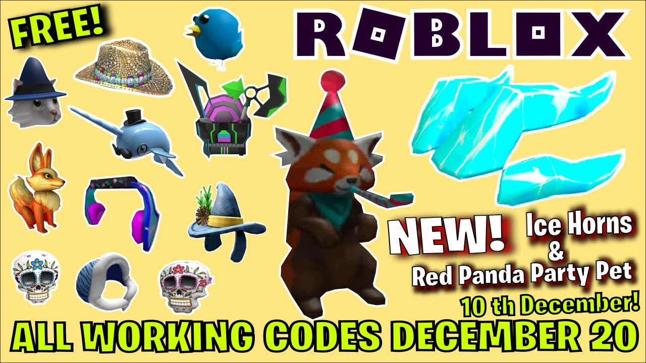 *23 CODES* ALL NEW PROMO CODES in ROBLOX! (December 2020) / ROBLOX PROMO CODES